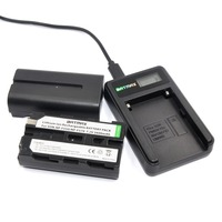 2Pcs 2600mAhNP F550 NP F550 NPF550 Rechargeable Li Ion Batteries LCD USB Charger For Sony NP