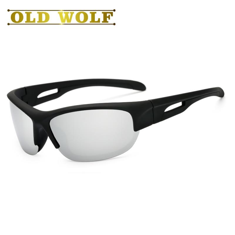 303e1ec43c OLD WOLF 2017 Brand Polarized Sunglasses Driving Half frame Sport Sun  Glasses Fishing Eyeglasses Oculos De Sol Masculino-in Sunglasses from  Apparel ...