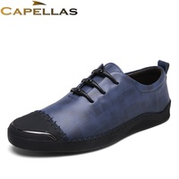 CAPELLAS Brand Genuine Leather Shoes Men Casual Shoes Fashion Breathable Flats Shoes Men S Leather Shoes