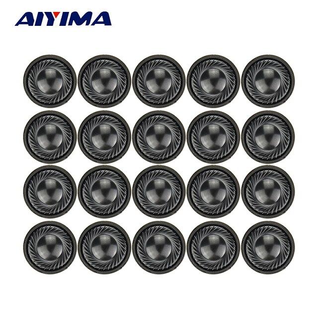 AIYIMA 20pcs 1Inch 28MM Mini Audio Portable Speakers 1W 8 Ohm Earphones Speaker Louderspeaker For Mobile Portable DVD / EVD