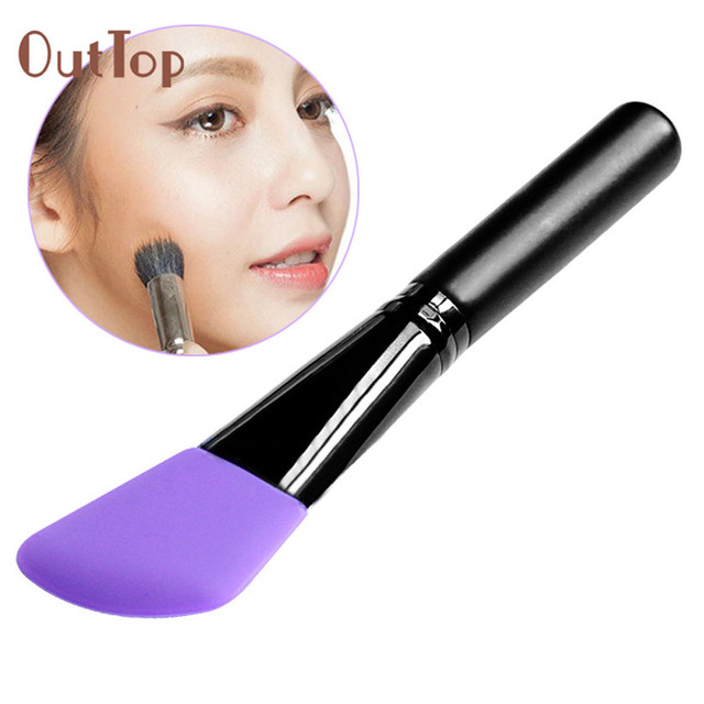 Best Deal OutTop New Wooden Handle Facial Face Mud Mask Mixing Brush Cosmetic Makeup Eye Shadow Brush Kit 1PC#30