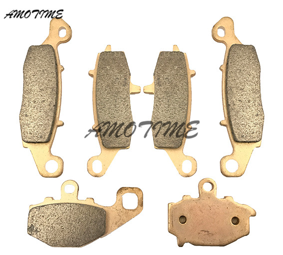 Motorcycle Parts Copper Based Sintered Motor Front & Rear Brake Pads For Kawasaki Z750 2004-2005 Z750S 2005-2007 06
