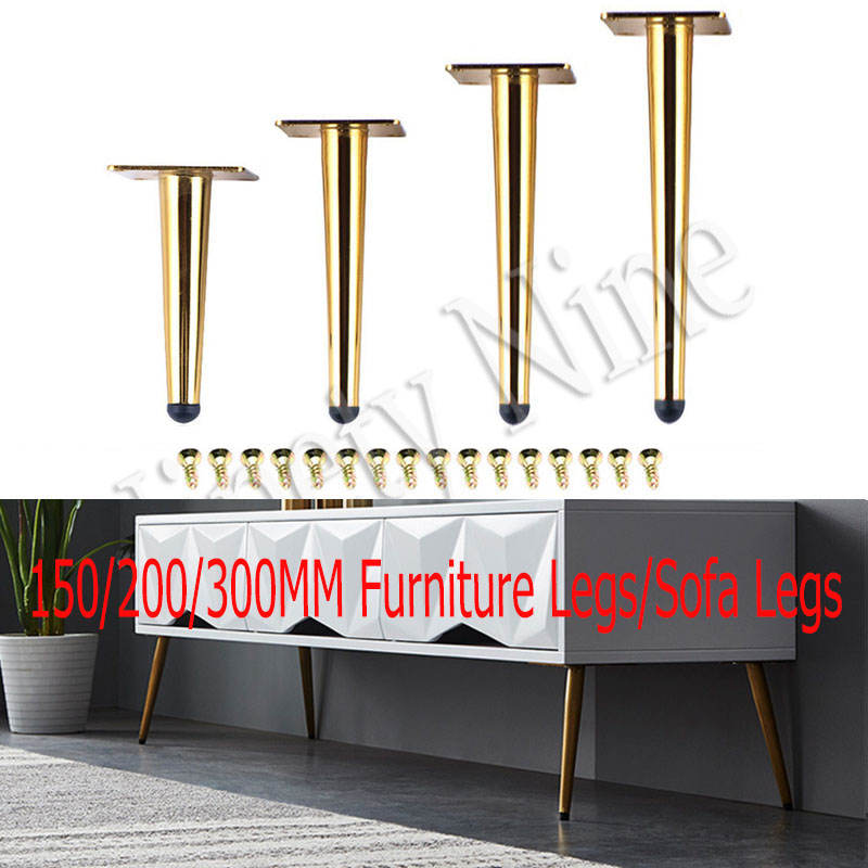 4PCS High-Grade Metal Furniture Legs Sofa Legs Replacement Legs With Leg For Sofa Cabinet Couch Ottoman Table Bench