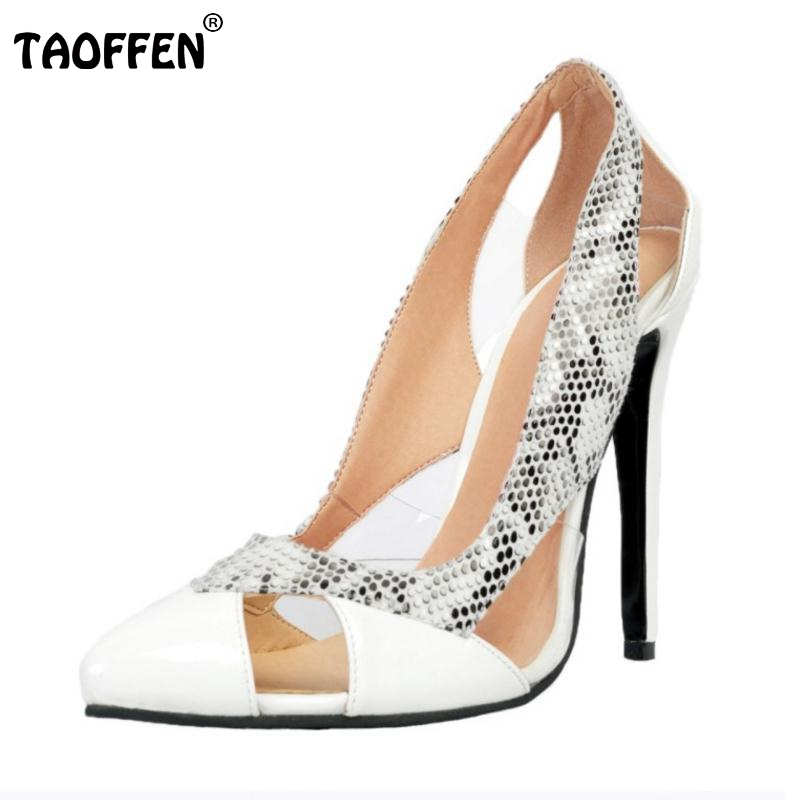 ФОТО Size 34-47 High Heels Shoes Women Pumps Fashion Pointed Toe Party Leisure Thin Heels Shoes Party Soft Slip-On Footwear