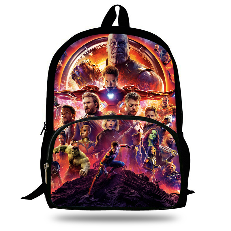 16inch Cool Thanos Avengers Backpack For School Boys