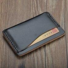 Супер тонкий мягкий ручной работы держатель для карт унисекс брендовый кошелек высокого качества органайзер для кредитных карт настоящие повседневные сумки кошельки