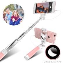 Floveme проводной конфеты селфи палка для iPhone 6 6 S плюс 5 5S для Android мобильного телефона Моноподы монопод для Samsung S 6S 8