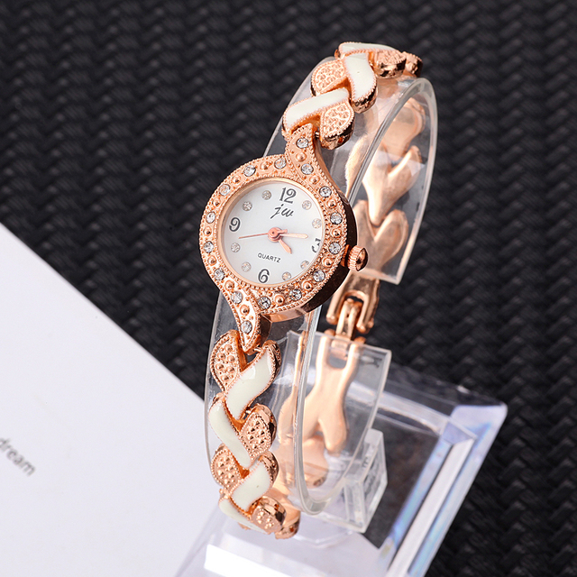 JW Rose Gold Bracelet watches Women Clock Luxury Brand Stainless steel Quartz Wa