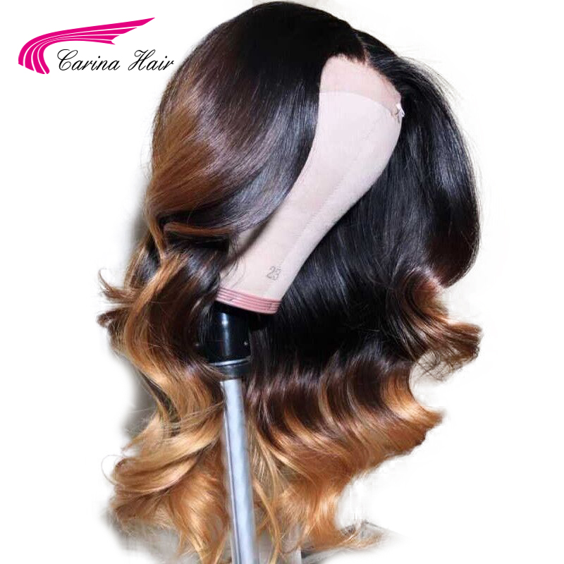 Carina 180 Density Preplucked 13x6 Lace Front Human Hair Wigs Brazilian Body Wave Remy Hair 1b427