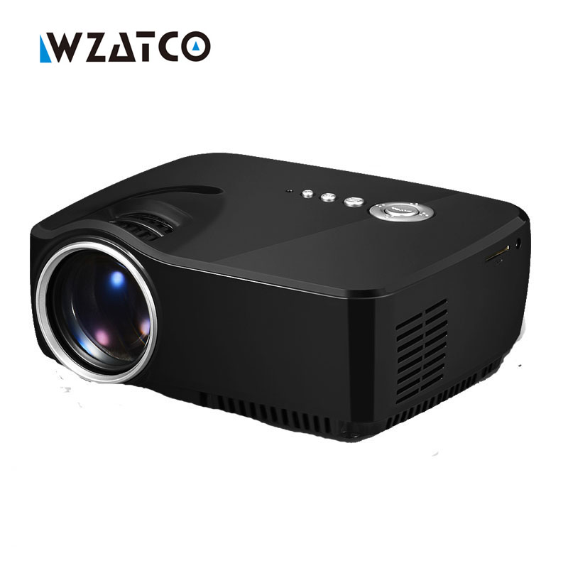 WZATCO GP70 1600lumens simple hd beamer Portable mini led lcd video projector home theater Proyector aun Projetor support 1080P