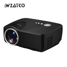 WZATCO GP70 1600 lúmenes sencillo hd proyector Portátil mini led lcd proyector de vídeo Proyector de cine en casa projetor aun 1080 P