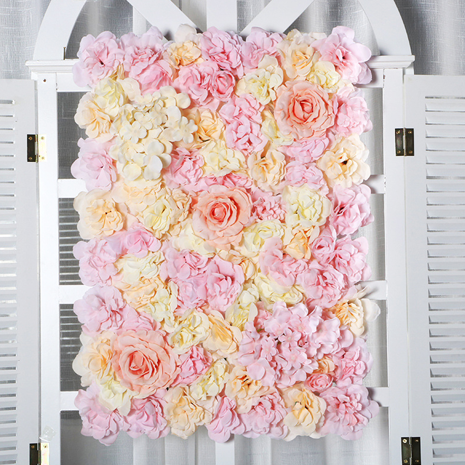 40x60cm Romantic Artificial Flower wall Silk Rose Flower for Wedding Decoration Wedding background decoration rose flowers