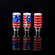 Sailing electronic cigarette best ceramic drip tips heat resistance American flat printing for 510 tank RTA atomizer