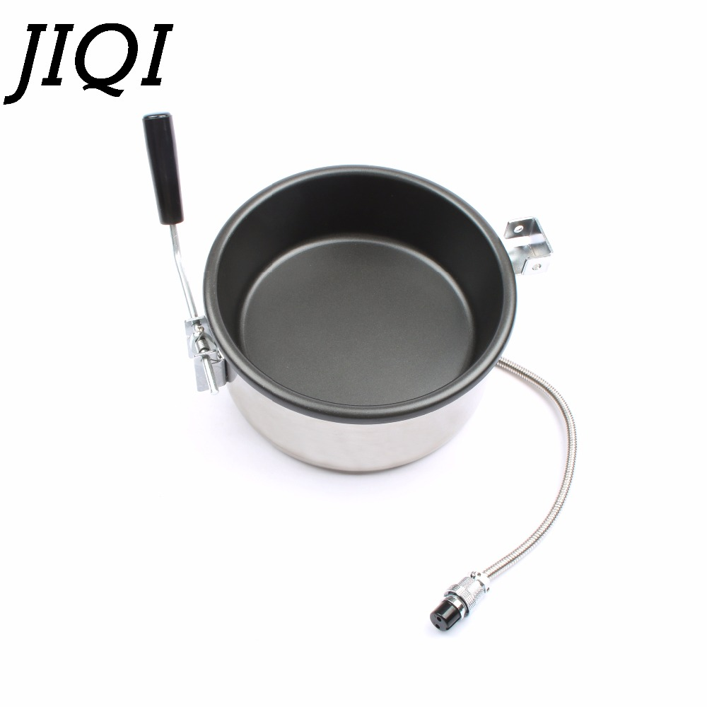JIQI hot air Popcorn Machine Accessories 15mm 2 Hole 3 Holes Interface 8oz Pot 8 ounce hand-cranked electric Popcorn maker parts