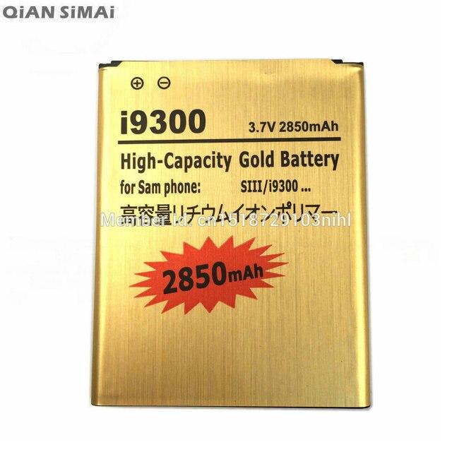 QiAN SiMAi 2850mAh i9300 Gold EB-L1F2HVU EBL1F2HVU EB L1F2HVU Battery For Galaxy S3 SIII GT-I9300 I9300 I747 T999 L710 I535