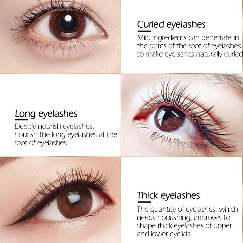 SENANA EGF Eyelash Growth Serum Vitamin E Eyelash Enhancer Longer Fuller Thicker Lashes Eyelashes Eyebrows Enhancer Eye Care 7Ml 5