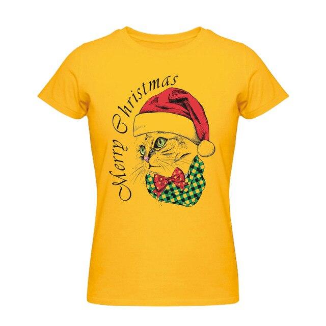 19416d6982 Santa Cat Mens Womens Novelty Christmas Xmas T-shirt Festive Gift for  Family tee shirts Custom Funny tshirts Custom Hip Hop Tees