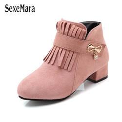 2019 Новинка весны на высоком каблуке обувь для девочек бахрома детская обувь высокие стороны молнии туфли принцессы для вечеринки дизайнер