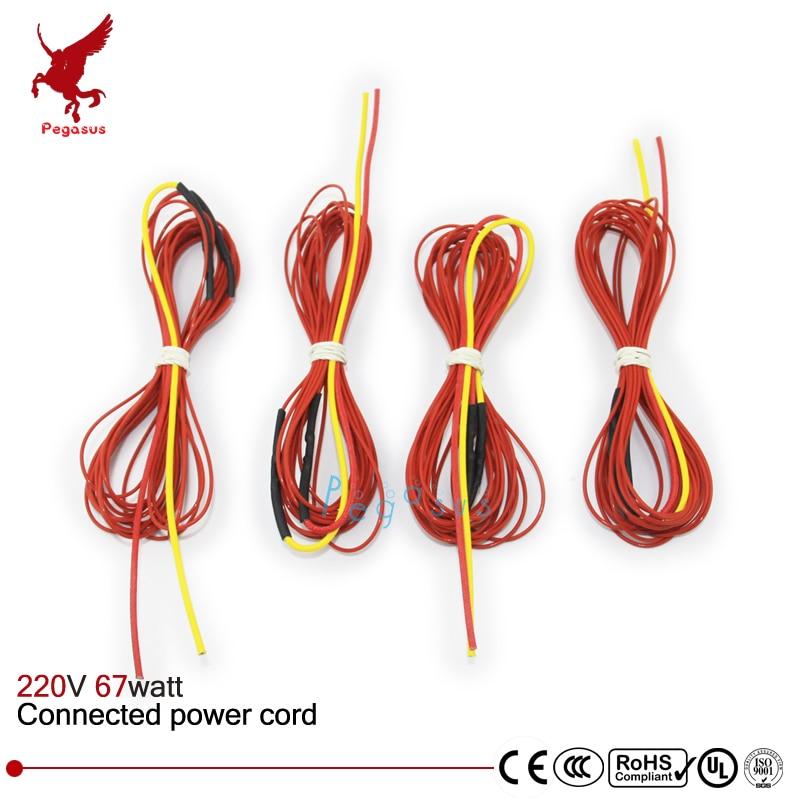 F3K 5meters 67w 133ohm Carbon fiber heating wire PTFE Teflon ...