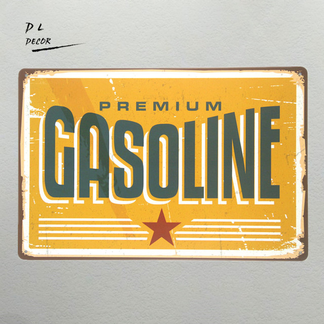 DL GASOLINE MY GARAGE TIN SIGN Retro man cave Wall ART Vintage Metal ...