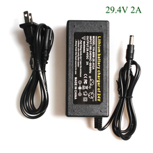 H D S N H di Alta Qualità 29.4V 2A Bici Elettrica Al Litio Batteria Al Litio Caricabatteria Per 24V 2A batteria Pacchetto RCA Spina del Caricatore del Connettore