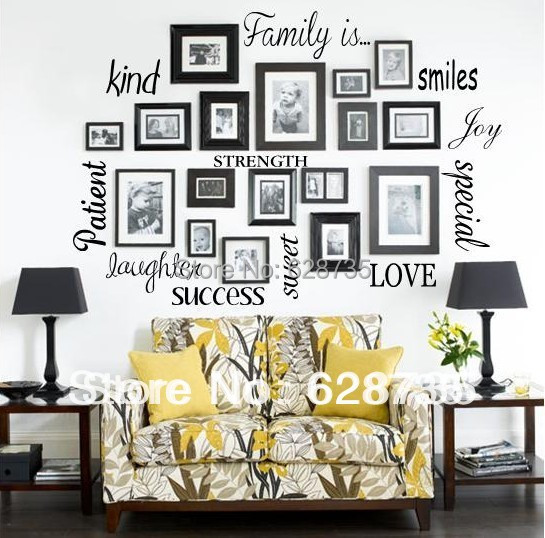 Free Shipping Wall Stickers Home Decor Family Is Vinyl Lettering Words Wall Art Quote Sticky