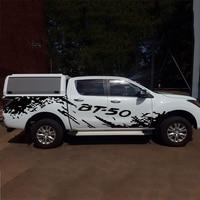 Бесплатная доставка 2 шт. грязи сбоку тела графических винил бездорожье Стайлинг автомобиля стикер для BT 50 2012on аксессуары
