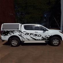 free shipping 2 PC mud side body  graphic vinyl off road styling car sticker for BT-50 2012on
