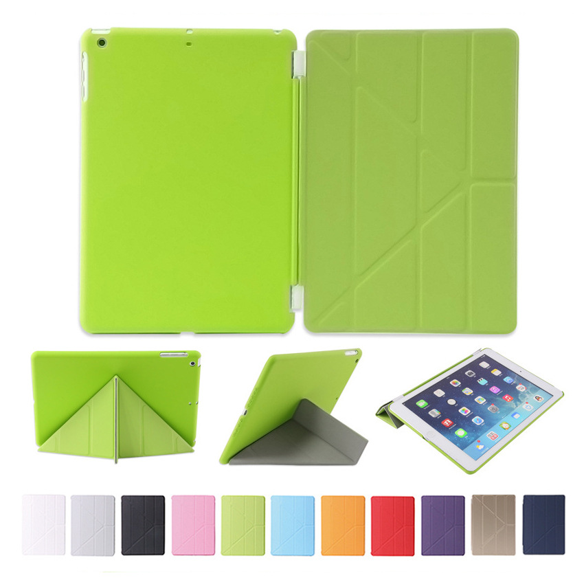 1pc Slim Leather Transformer Front Smart Cover Case + 1pc Crystal Clear Hard Back Case for ipad2 ipad3 ipad4 floral crystal clear print hard case for