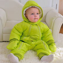Fashion 2018 New style Winter jumpsuit autumn 0-24M baby snowsuit , baby winter coveralls, warm jacket, infant girl boys clothes(China)