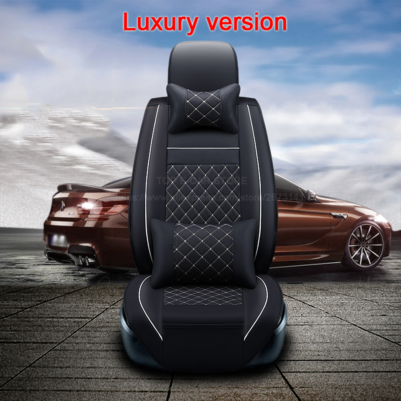 (2 front) High quality leather universal car seat cushion Four seasons seat Covers for DACIA Logan Duster auto seat protector