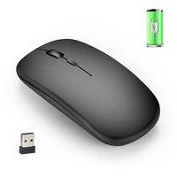 Drahtlose Maus Aufladbare Ultra-stille Klicken Optische Maus Mäuse mit USB Kabel GDeals