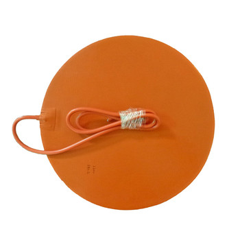 Dia.500mm 110v 220v 1000w OEM Flexible Silicone Heating Pad With PSA and NTC 100K Thermistor