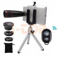 2018 12X HD Telephoto Zoom Lenses Telescope Lenses Macro Fisheye Wide Angle Lentes For IPhone 8
