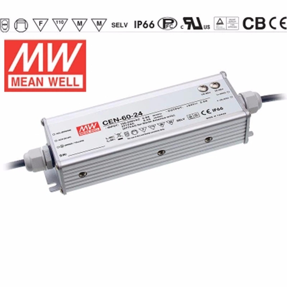 цена на MEAN WELL Original CEN-60 AC/DC Single Output Power Supply IP66 Waterproof LED Driver 60W 12V 15V 20V 24V 30V 36V 42V 48V 54V