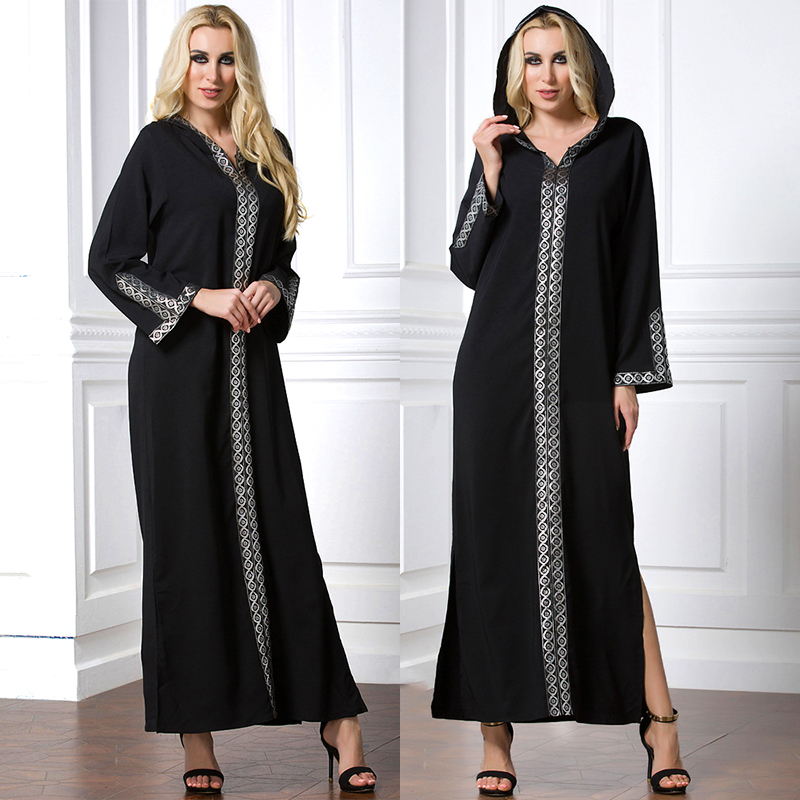 3b5751796d19f US $27.98 21% OFF|pakistan abaya black muslim long dress women hijab  evening dresses hat moroccan kaftan malaysia turkish dresses islamic  clothing-in ...