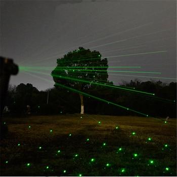 10000 m de alta potencia 2 en 1 puntero láser verde rojo a prueba de agua Metal láser 303 puntero de visión ajustable para camping caza