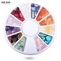 200 unids/Rueda de Acrílico Rhinestones Para Uñas Art Decoraciones Coloridas Piedras de Ágata Irregular Ornamento Decoración Del Arte Del Clavo Tips Manicura