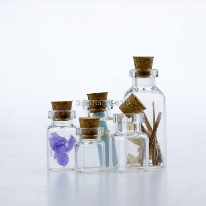 Small Glass Jars Mason Jar Message Vials Cheap Cork Stopper Bottle DIY Small Glass Bottle Mini Containers F460