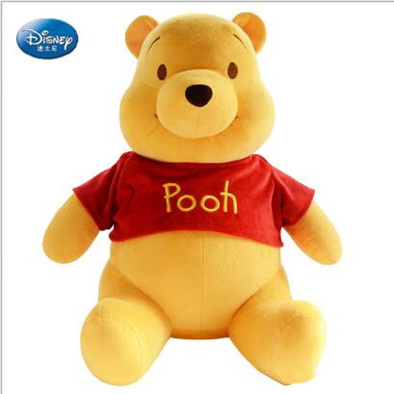 купить Disney Winnie The Pooh Bear Plush Toy Doll Pooh Stuffed Plush Dolls Toys Birthday Gifts for Children недорого