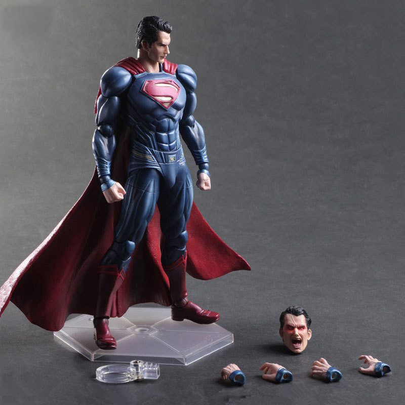 Play Arts DC Super Heroes Superman Action Figure PVC Collection Model Kids Toy 10 26cm funko pop super heroes batman 01 vinyl figure collection model toy doll 10 5cm