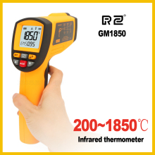 Buy NEW GM1850 Non-Contact  LCD display IR Infrared Digital Temperature Gun Thermometer 200~1850C 80:1 RS232 interface Software CD