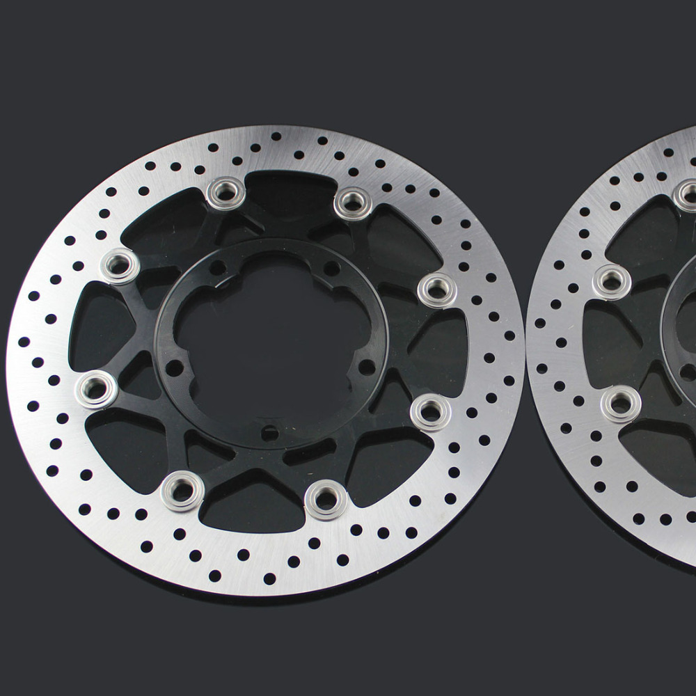 Gold motorcycle Front Disc Brake Rotor Scooter Front Rear Disc Brake Rotor for SUZUKI GSXR 600/750 2006-2010 GSXR1000 2005-2006 motorcycle parts 1 pair black stainless steel mechanical motorbike front rear disc brake rotor fit for suzuki gsx r 750 2000 2001 2002 2003 front l r
