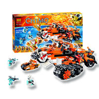 711pcs Bela 10357 Chimaed Building Blocks Sets God tiger Tribe Super chariot Kids Tiger's Mobile Command amazing Bricks Toys