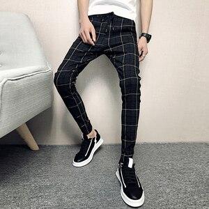 Image 2 - חדש מכנסיים גברים Slim Fit בריטי משובץ Mens מכנסיים אופנה באיכות גבוהה 2020 קיץ מזדמן צעיר היפ הופ מכנסיים זכר מכירה לוהטת
