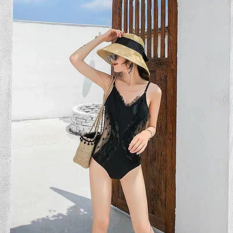 2019 spring new women s sexy net color shawl one piece swimsuit 41912