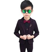 3pieces Suit For Boy Weddings Costume 2019 Baby Boys Blazer Spring Autumn GentlemenS Clothing Coat+Vest+Pants
