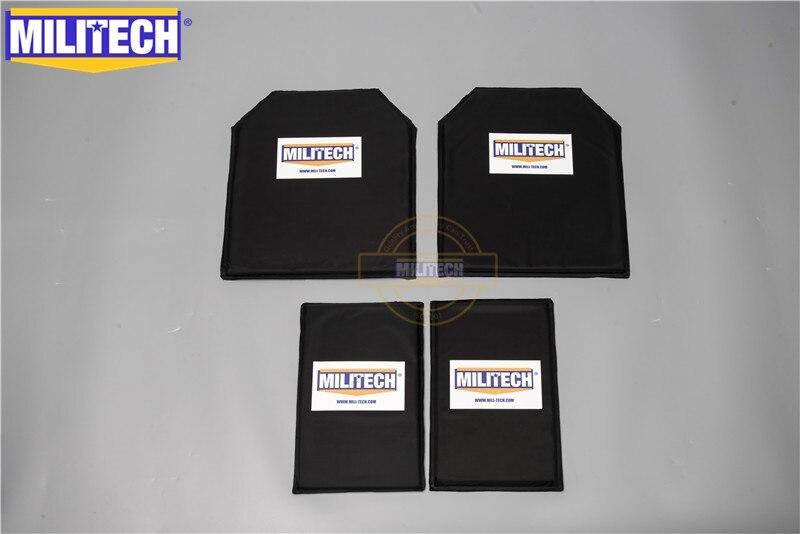 MILITECH 10 x 12 & 6 x 10 Pairs Aramid Ballistic Panel Bullet Proof Plate Inserts Soft Cummerbund Side Armour NIJ Lvl IIIA 3A