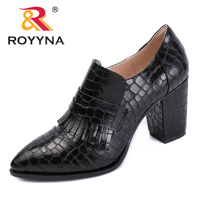 ROYYNA New Mature Style Women Pumps Synthetic Women Dress Shoes Slip-On Lady  Wedding Shoes Comfortable Light Fast Free Shipping 10de35ff1f9b