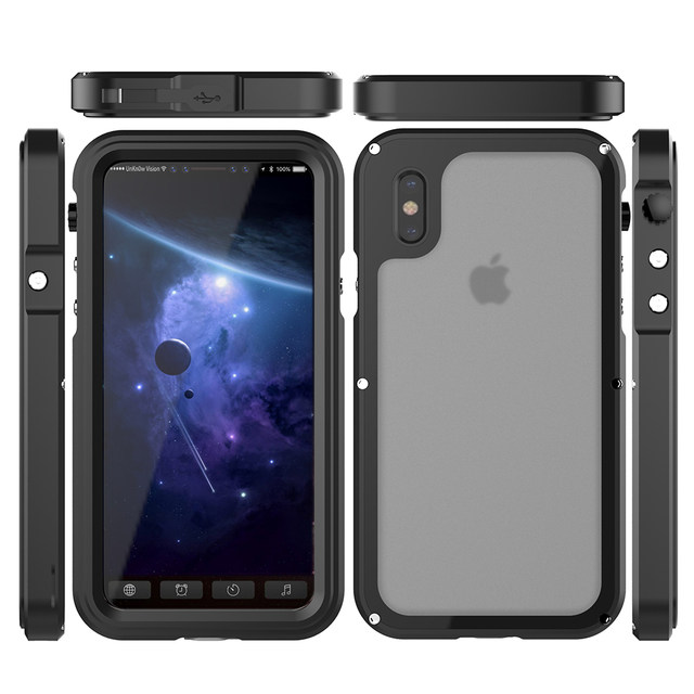 Ascromy For iPhone X Case Shockproof IP68 Waterproof Metal Bumper Cover For Appe iPhone 7 Plus 8 8plus Water Proof Accessories (2)